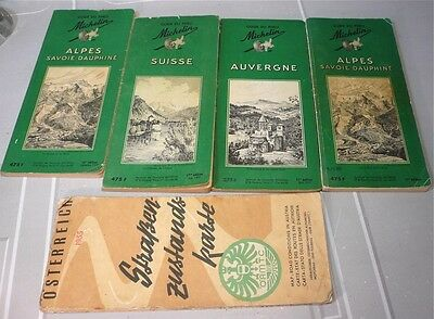 Lot 4 guides Michelin: Suisse, Alpes, Auvergne…