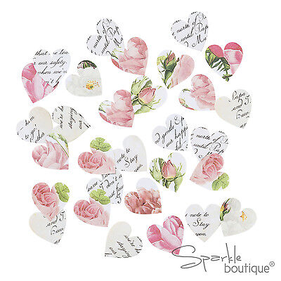 FLORAL HEART SHAPED TABLE SCATTER/CONFETTI -Wedding Decoration-Blossom & Brogues