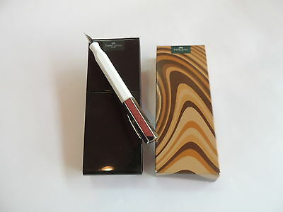 Faber Castell Ondoro White Fountain Pen,stainless Steel Nib. Special Price,mint!