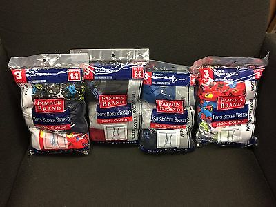 12 P K    Boys  Boxer Briefs Fruit Of The  Loom In Famous Brand Bag  100%cotton