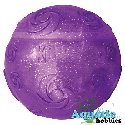 Kong Squeezz Crackle Ball Quieter Play For Dog Puppy Toy Fetch Choose Size