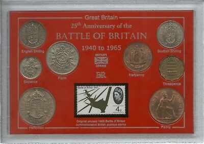 The Battle of Britain WWII RAF 25th Anniversary 1940-1965 Coin & Stamp Gift Set