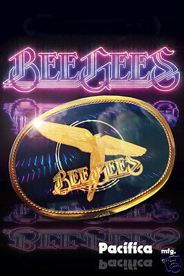 Bee Gees RARE WING version VINTAGE PACIFICA BELT BUCKLE BEAUTIFUL! 1978 Tragedy