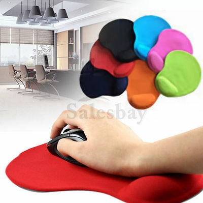 Mouse Pad Wrist Soft Support Gel Comfort Mat Gaming PC Laptop Computer Multi Col