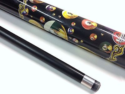 HOT SHOT Graphite Pool Snooker Billiard Cue Warp Resistant With 9mm Cue Tip