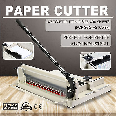 OZ Metal Paper Cutter Size A3 To B7 Guillotine Page Trimmer 17 Sheets