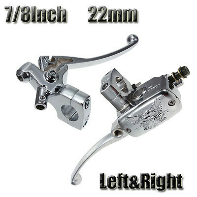 "New Universal 7/8"" 22mm Motorcycle Brake Master Cylinder Clutch Lever Left Right"