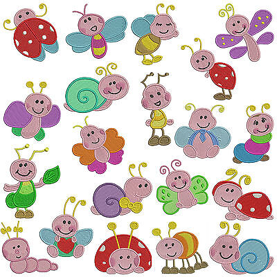 LITTLE BUGS * Machine Embroidery Patterns * 20 designs x 2 sizes