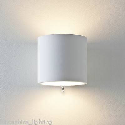 Astro 0916 Brenta 130 Single Wall Light Plaster Finish Switched