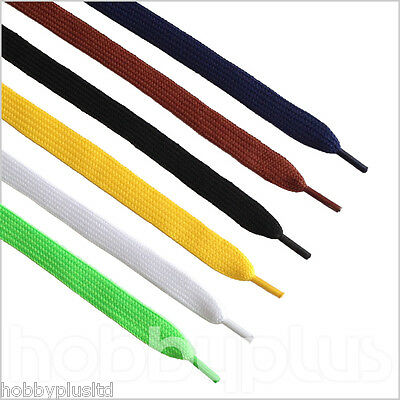 2 Pairs Flat Shoe Laces Boot Trainer Shoelaces, Width 10mm, UK Seller