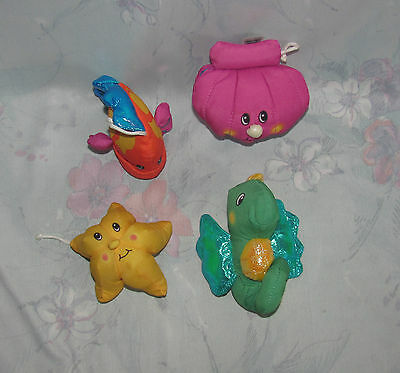 Fisher Price Ocean Wonders Replacements Lot 4 Seahorse, Clam, Starfish, Fish