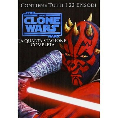 Cofanetto Star Wars - The Clone Wars - Stagione 04 (4 Dvd) Cartoni Anima-1106