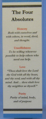 Recovery Bookmark The Four Absolutes - Sobriety