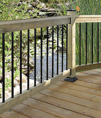 """Nuvo Iron SQPS26 SQUARE GALVANIZED STEEL BALUSTER 10/PACK 3/4"""" X 26"""" LENGTH 10PK"""