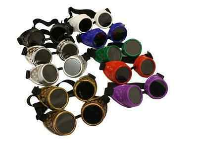 New Sunglasses Cyber Steampunk Cosplay Goth Antique Victorian Welding Goggles