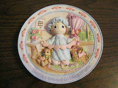 "1995 Precious Moments 3-D Plate ""you Have Touched So Many Hearts"""