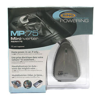 Car Power Mini Inverter 12v to mains 240v 75W plug in phone / laptop charger NEW