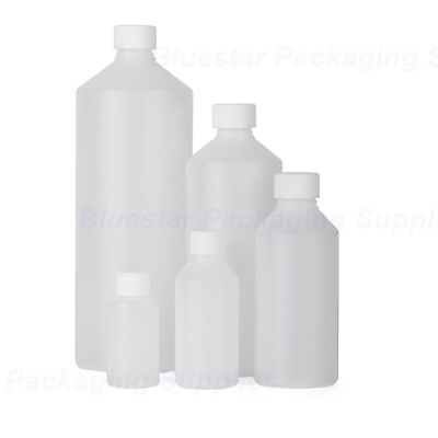 Plastic Bottles Natural HDPE with Screw Top Lid 50ml 100ml 250ml 500ml 1000ml