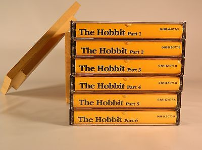 J.R.R. Tolkien's Classic Hobbit Audio Cassettes the Mind's Eye 6 Tapes