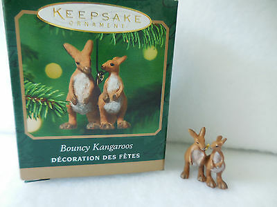 Hallmark Keepsake Ornament Noahs Ark Miniature Bouncy Kangaroos 2001