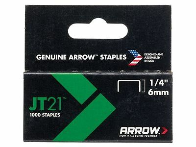 Arrow - JT21 T27 Staples 6mm (1/4in) Box 1000