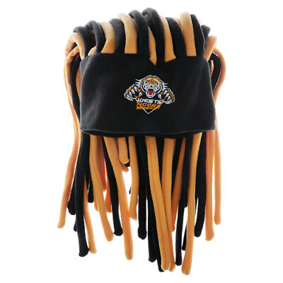 Wests Tigers NRL Dreadlock Dreadlocks Hat Cap Beanie Game Party Man Cave Gift