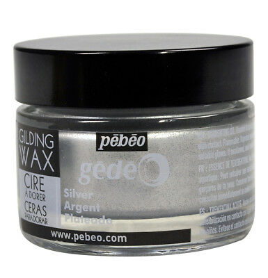 Pebeo Gedeo Metallic Gilding Wax 30ml Jar for Art, Craft, Decor - Colour Silver