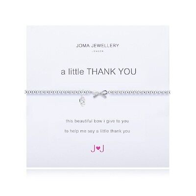 Joma Jewellery Thank You Bracelet with silver bow