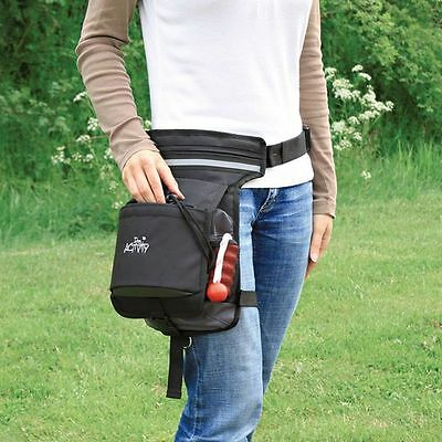 Dog Activity Hip Bag with 3 Zipped Pocket & Treat Bag Attaches to Waist & Leg