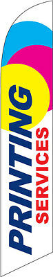 Printing Services 12ft Feather Banner Swooper Flag - FLAG ONLY