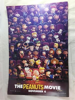 """NEW Genuine Lot of 2 The Peanuts Movie November 6 Double Sided Poster 20"""" X 13"""""""