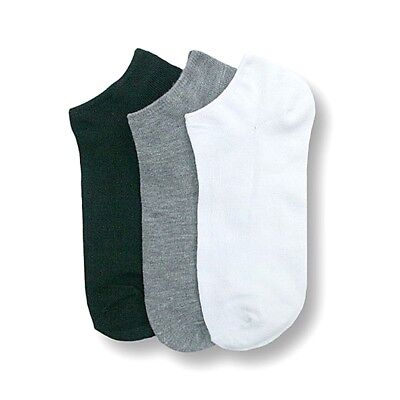 Wholesale Lot Solid Sports Ankle/quarter Socks Now Show Spandex Plain 6-8 9-11