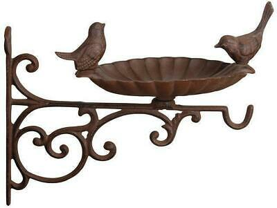 Cast Iron Wall Mounted Bird Bath Garden Food Feeder