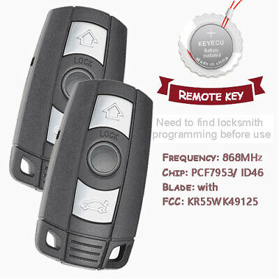 Smart Remote Key 3 Button 868MHZ With ID7944 Chip CAS3 for BMW 1 3 5 6 7 Series