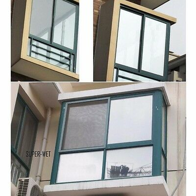 2M Window Insulation Film Sticker Mirror Solar Reflective Silver 40/50/60/80cm W