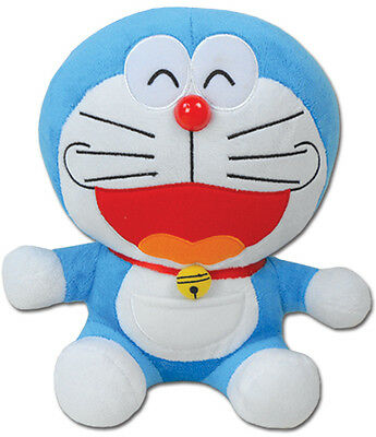 "*NEW* Doraemon Smile Face 10"" Plush by GE Animation"