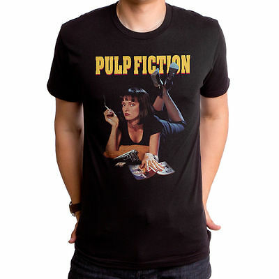 Official Licensed Pulp Fiction Movie Mia Poster Title Adult T-shirt S-2XL