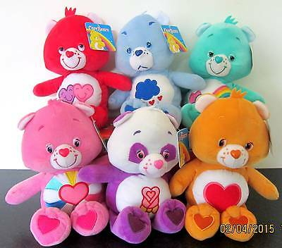 """Care Bear * 6 Characters * Soft Toy/beanie/doll/plush - New/tags! - 11""""/28Cms"""