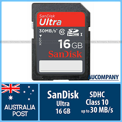 SanDisk Ultra 16 GB 16G SD SDHC Class 10 UHS-I Memory Card Speed Up To 30MB/s