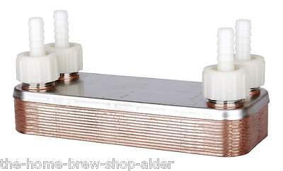 12 Plate Counterflow Wort Chiller  - Home Brew - All Grain Chilling