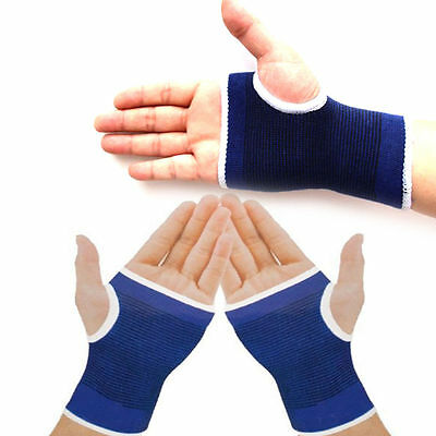 2 x Palm Wrist Hand Support Gloves Weight Lifting Straps Elastic Sports Bandage