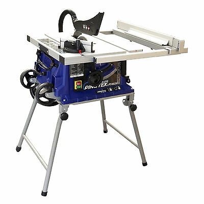 Pingtek Blueline 255mm Bench Table Saw with Adjustable Side Ext & Folding Legs