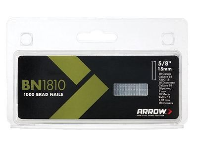 Arrow - BN1810 Brad Nails 15mm Pack 1000