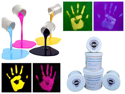 2 oz Thermal Thermochromic Black Color Liquid Ink Changing To Yellow At 88F/31C
