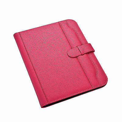 Pink A4 Executive Conference Folder PU Portfolio Leather Look Organiser - CL-663