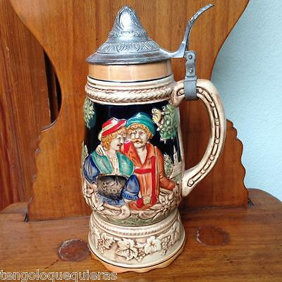 Antigua jarra de cerveza musical antique beer mug jar musical stein