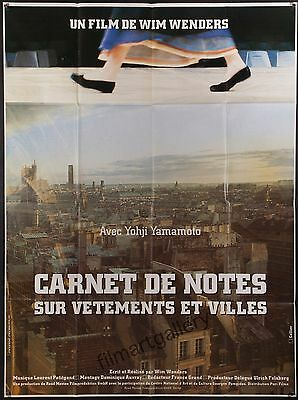 NOTEBOOK ON CITIES AND CLOTHES poster Wim Wenders Yohji Yamamoto filmartgallery