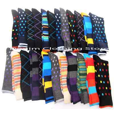 30 pairs Wholesale Lot Women Mix Assorted Prints Design Crew Socks Winter 9-11