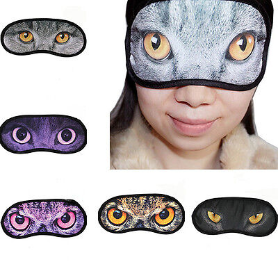 Random Delivery Soft Cute Cat  Eyeshade Three-Dimensional Travel Sleep Mask