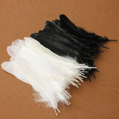 "50x Beautiful Large Goose Feathers 6""-8""/15 -20cm High Quality Arts & Crafts UK"